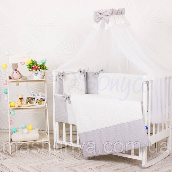 Детский постельный комплект Маленькая Соня Smile 6 и 7 элементов