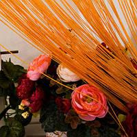 Шторы нити Однотонные Лайт №3 Оранжевый