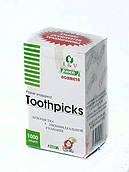 Зубочистки в индивидуальной целлофановой упаковке, 65 мм, 1000 шт/уп