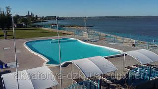 Композитный бассейн в аквапарке. Цельнолитой 25х15 метров!