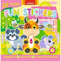 Книга Детская Книжка с Наклейками Забавные Наклейки Раскраска Fun stickers №5, 007317, фото 1