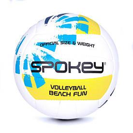 Волейбольный мяч Spokey Beach Fun размер 5 White-Blue-Yellow (s0218)