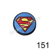 Джибитсы Супер-герои, поштучно Знак супер-мена в кругу