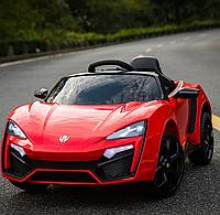 Детский электромобиль QS 518-R Lykan HyperSport, кожаное сиденье, красный  ***