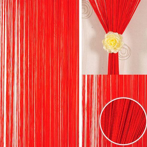 Шторы нити Однотонные Лайт №17 Красный