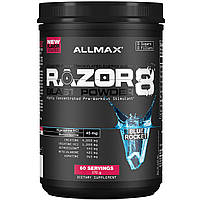 ALLMAX Nutrition, Razor 8, Pre-Workout Energy Drink With Yohimbine, Blue Rocket, 1.25 lb (570 g)