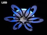 Люстра светодиодная 8090/6 white/black 105w диммируемая с led подсветкой, фото 1