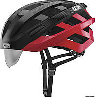 Шлем ABUS In-Vizz Ascent red comb, 54-58 см (M), красно-черный