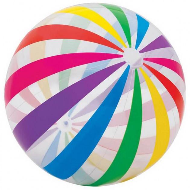 Надувной пляжный мяч Полосатый Intex 107 см