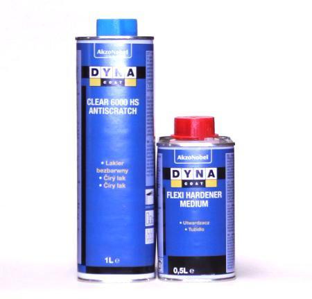 Лак DYNА Clear 6000 HS Antiscratch  1л + Отвердитель Flexi Medium 0,5л (Комплект)