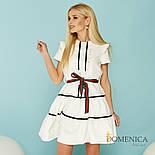 Женское красивое платье с оборками и поясом (2 цвета), фото 3