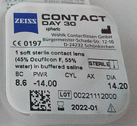 Контактні лінзи Zeiss, Contact day 30 Mediterranee, фото 1