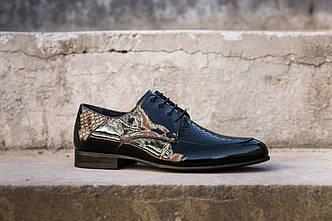 Лаковані шкіряні туфлі Luciano Bellini - 45 розмір