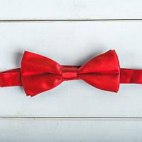Галстук-бабочка для жениха или свидетеля красного цвета (арт. GB-5)
