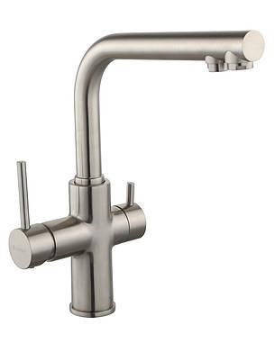 DAICY смеситель для кухни однорычажный с подключением питьевой воды, сатин, фото 2