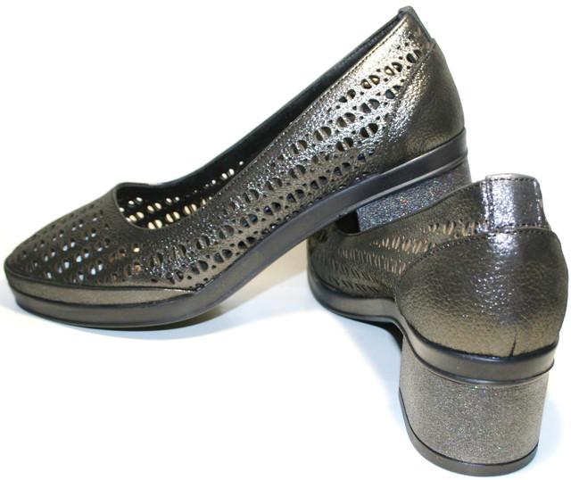 Летние женские туфли шьют из единого куска мягчайшей натуральной кожи темно  серого цвета с титановым блеском. Кожаная черная подкладка приятна на ощупь. 6e3fa690d71be