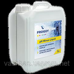 PH- Minus Liquid, 20л средство для понижения уровня Ph воды. Химия для бассейна FROGGY™