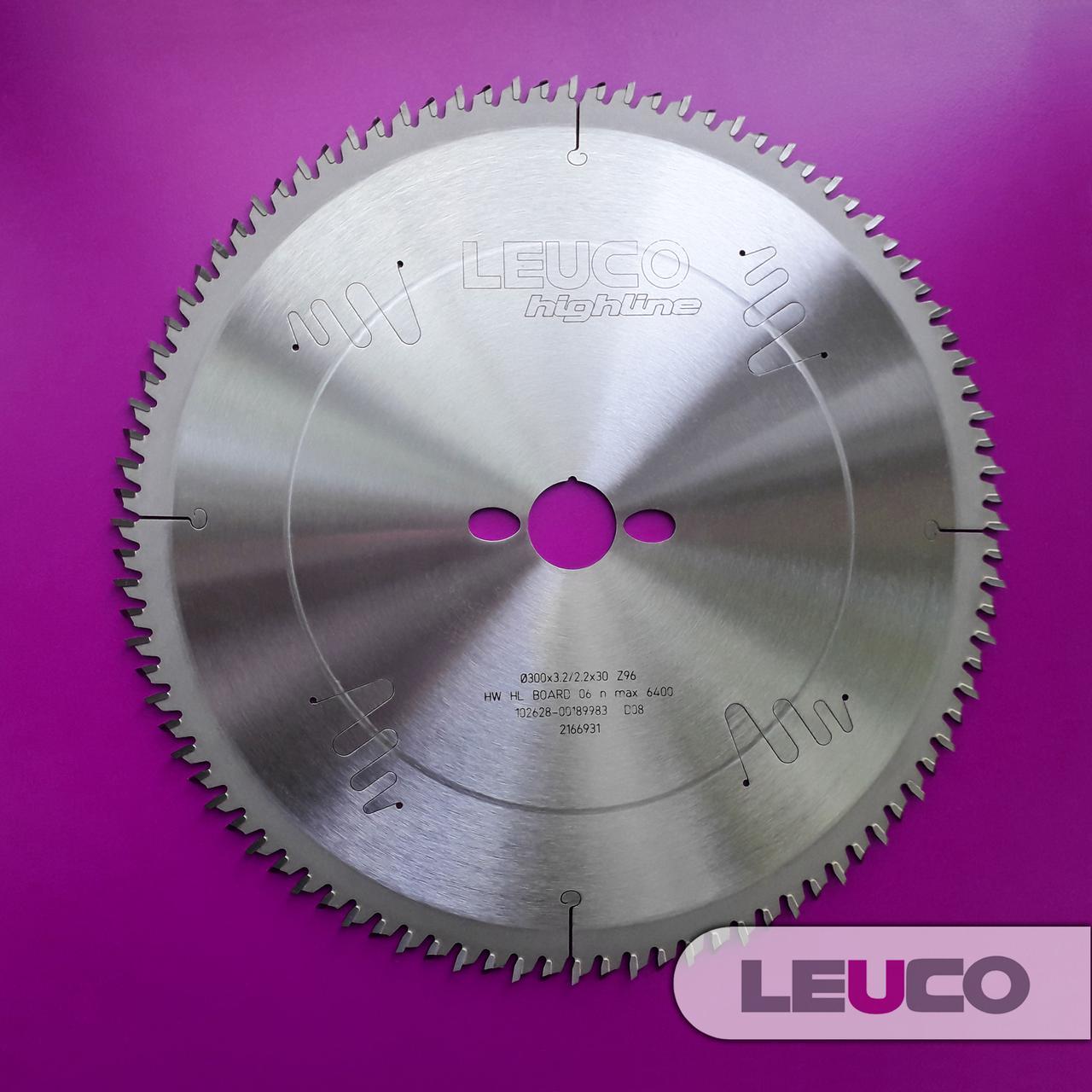 Форматная дисковая пила Leuco для профилей, погонажа и пластиковых профилей, 300x3,2x2,2x30 Z=96