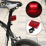 Фара задняя для велосипеда, задний фонарь. Светодиодный фонарь мигалка , фото 2