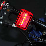 Фара задняя для велосипеда, задний фонарь. Светодиодный фонарь мигалка , фото 5