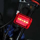 Фара задняя для велосипеда, задний фонарь. Светодиодный фонарь мигалка , фото 6