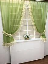 """Готовые  Шторки для кухни """"Дорис"""" Зелёный, фото 3"""
