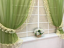 """Готовые  Шторки для кухни """"Дорис"""" Зелёный, фото 2"""
