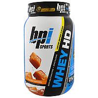 BPI Sports, Whey HD, Ultra Premium Whey Protein Powder, Salted Caramel, Net Wt 2.04 lbs (925 g) 25 Servings