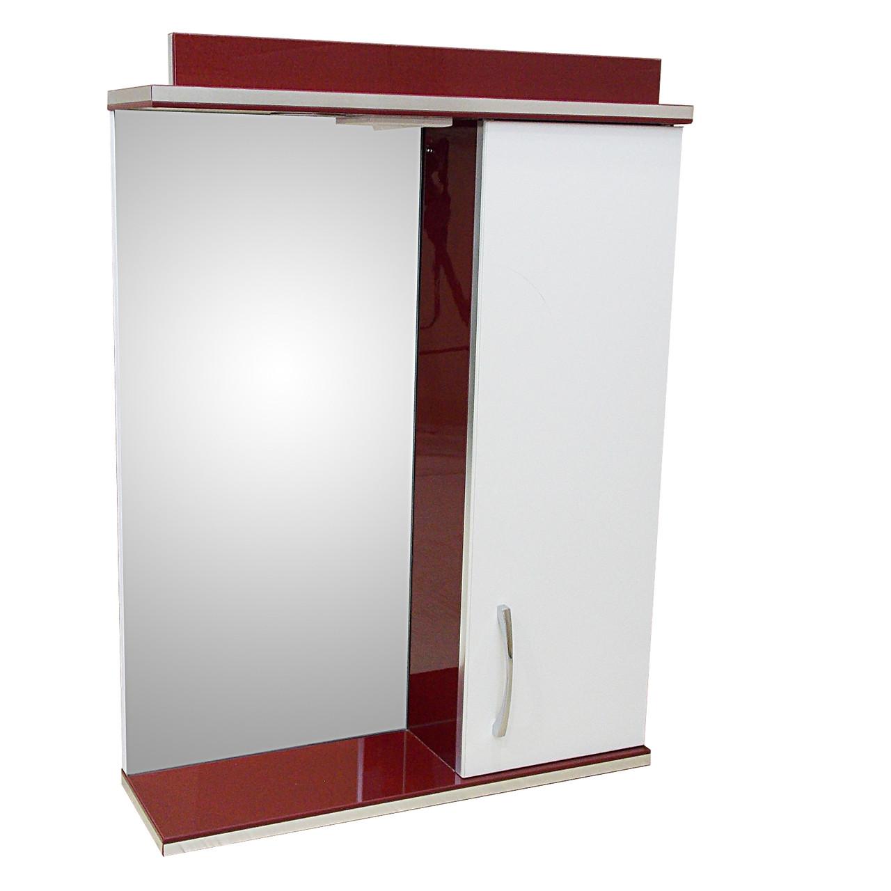 Зеркало 55 Дебют Абсолют бордо-бьянка