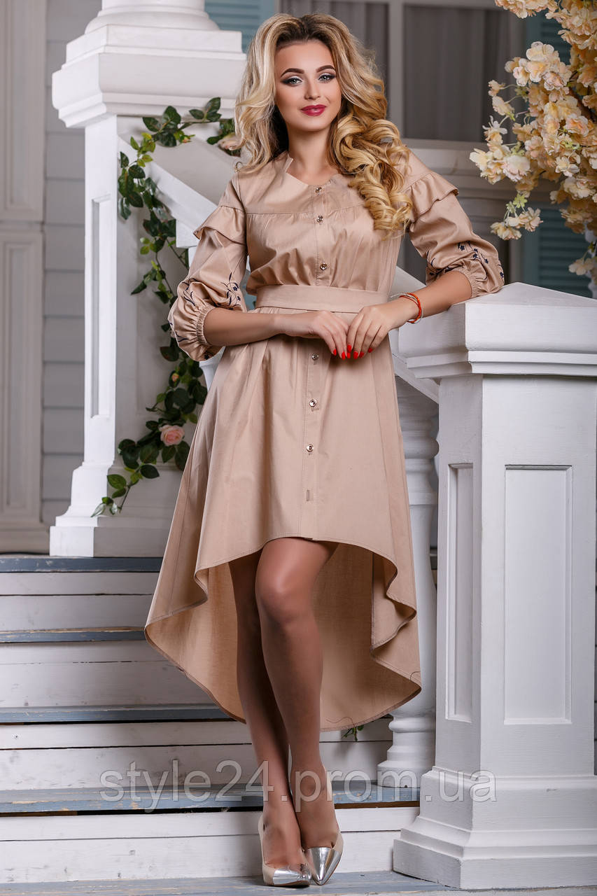 ЖІноче плаття видовжене ззаду на гудзики.Р-ри 42-48  продажа f21af6efbd0fe