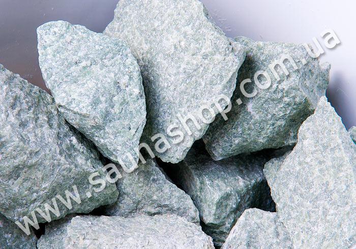 Камень для бани Жадеит колотый, 10 кг. Green Stone