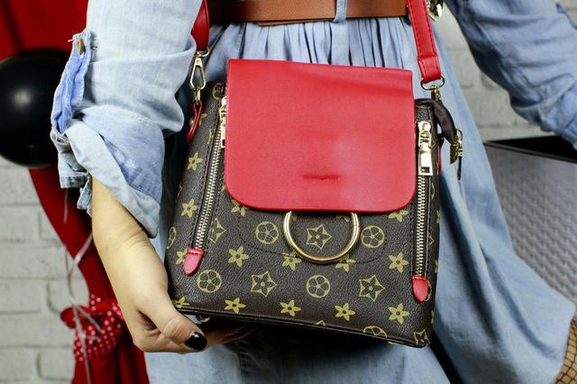 Красный мини рюкзак Луи Виттон