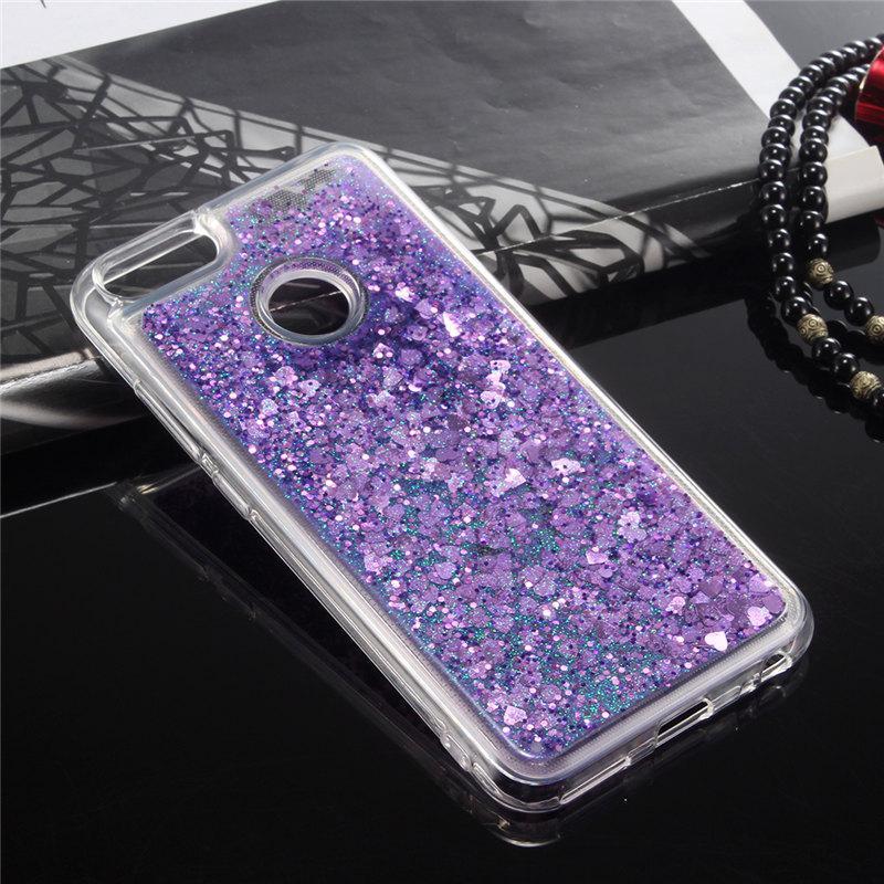 Чехол Glitter для Xiaomi Mi A1 / Mi 5x Бампер Жидкий блеск  фиолетовый