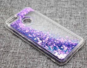 Чехол Glitter для Xiaomi Mi A1 / Mi 5x Бампер Жидкий блеск  фиолетовый, фото 2