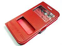 Чехол книжка с окошками momax для Samsung Galaxy Win i8550 / i8552 красный