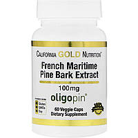 California Gold Nutrition, French Maritime Pine Bark Extract, 100 mg, 60 Veggie Caps