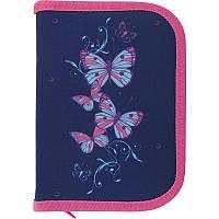 Пенал книжка Kite Бабочки с 2мя отворотами, фото 1