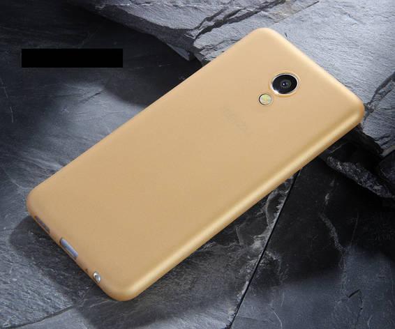 Чехол MAKAVO для Meizu M5S Бампер Матовый ультратонкий Золотой, фото 2