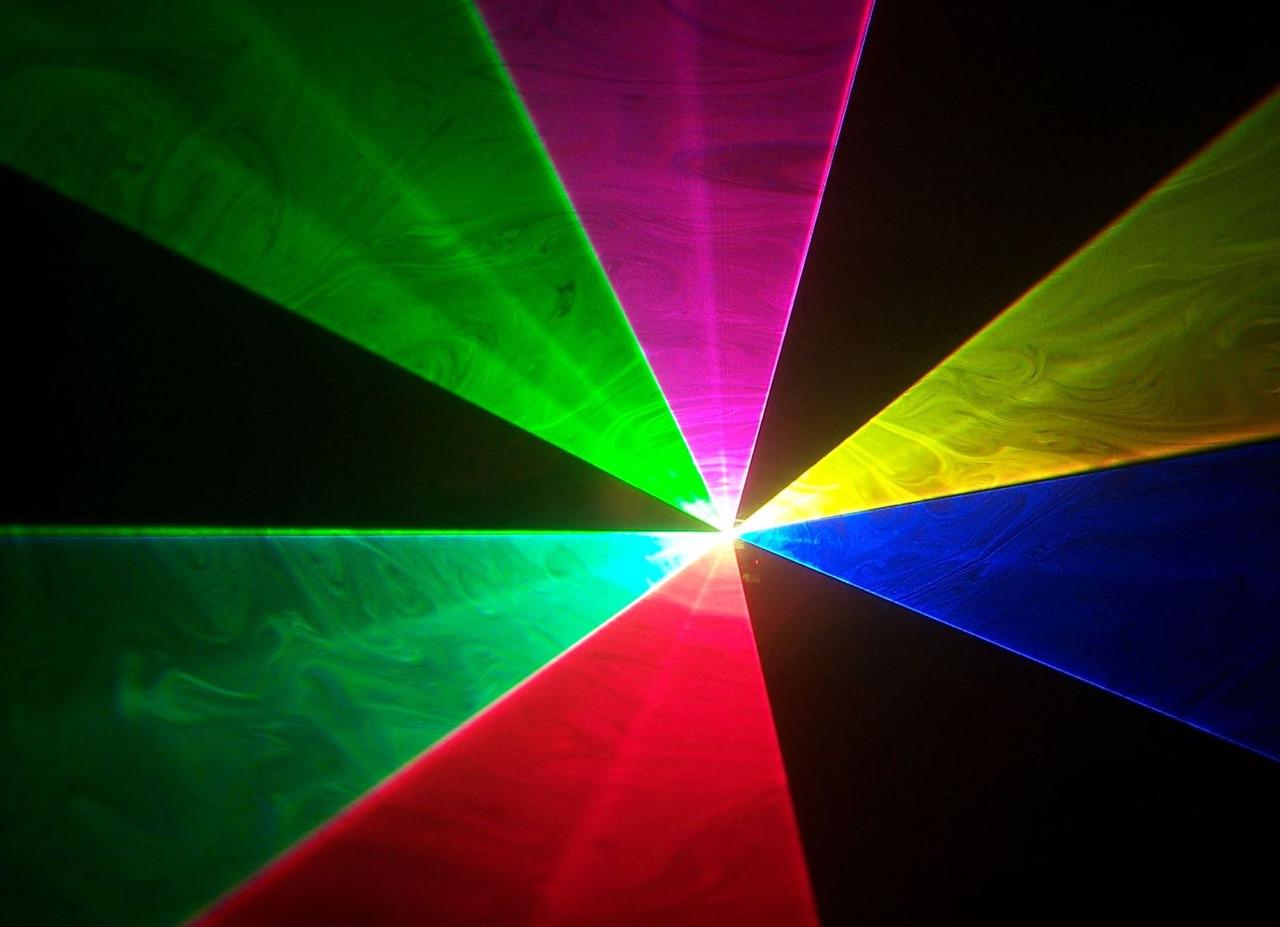 Аренда полноцветного лазера (R.G.B.) мощностью 5,5 Вт. (Beam Show)