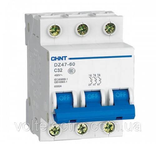Автоматический выключатель DZ47-60 3P C 40A 4.5kA