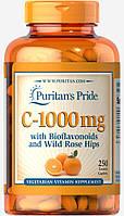Витамин С-1000 с Биофлавоноидами и шиповником, Vitamin C-1000 mg, Puritan's Pride, 250 таблеток, фото 1