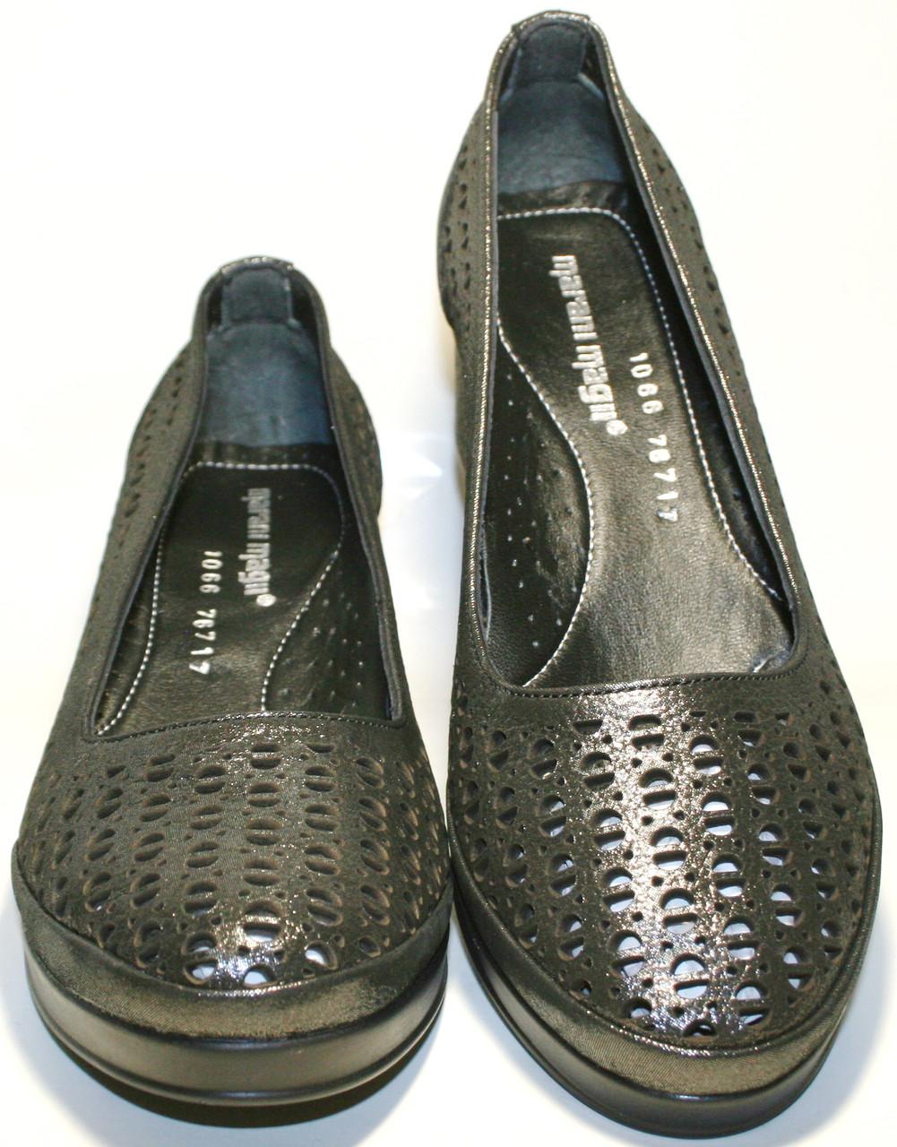 Кожаные летние туфли на толстом каблуке Marani Magli - Интернет-магазин