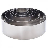 Кольца для формирования салата 6 шт в наборе 20*6 см (11865)