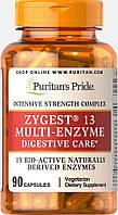 Мультиферменты,  Zygest® 13 Multi-Enzyme, Puritan's Pride, 90 капсул