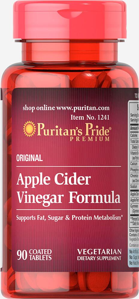Яблочный уксус, Apple Cider Vinegar Formula, Puritan's Pride, 90 таблеток