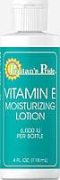 Лосьон с Витамином Е, Vitamin E Moisturizing Lotion 6,000 IU, Puritan's Pride, 118 мл