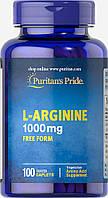 Л-Аргинин, L-Arginine 1000 mg, Puritan's Pride, 100 таблеток