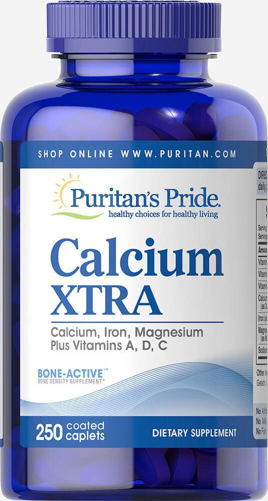 Кальций екстра, Calcium Xtra, Puritan's Pride, 250 таблеток