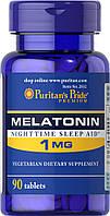Мелатонин, Melatonin 1 mg, Puritan's Pride, 90 таблеток