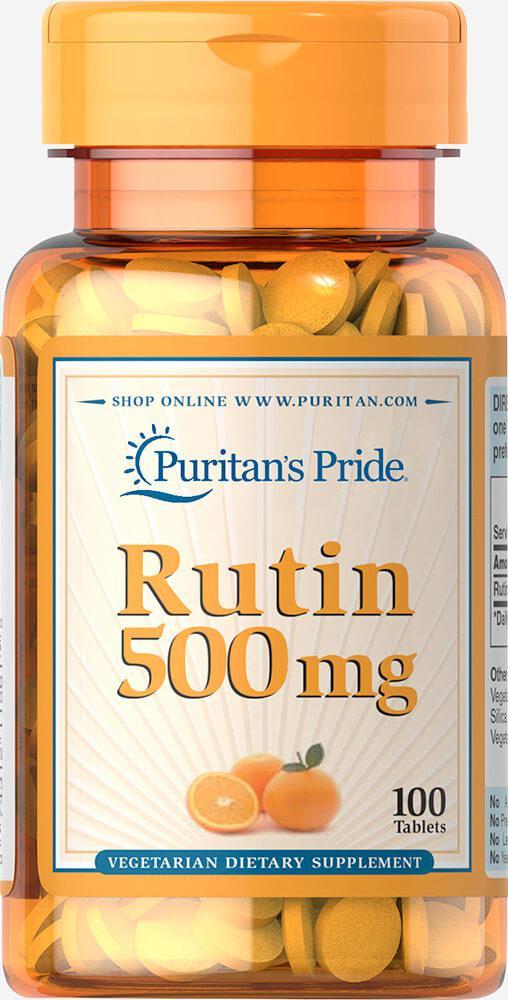 Рутин, Rutin 500 mg, Puritan's Pride, 100 таблеток